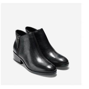 Cole Haan Hayes Genuine Leather Flat Bootie